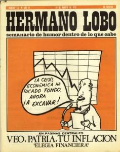 Portada de Hermano Lobo una revista de 1975
