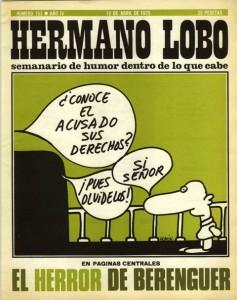 Portada de un número de la revista Hermano Lobo de 1975